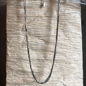 NWOT Ann Taylor silver tone multi strand necklace